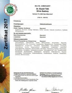 Zertifikat Licht-Quell-Alm